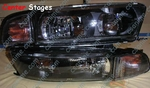99-03 Galant black/smoked headlights (dual beams)
