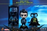 Cosbaby Series Batman Vs Superman Dawn of Justice Bruce Wayne with Batsuit Robin Suit Collectible Set Hot Toys