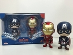Cosbaby Series Captain America Civil War Captain America Iron Man Mark XLVI Figure Set Hot Toys