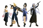 Final Fantasy Trading Arts Figure Cloud Strife , Sephiroth , Rinoa Heartily , Yuna Set of 4