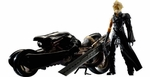Final Fantasy VII Advent Children Cloud Strife Fenrir Motocycle Figure Set