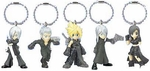Final Fantasy VII Advent Children Keyring Mini Figure Set of 5 Keychain
