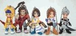 Final Fantasy X-2 Gashapon Capsule Figures Key Chain Set of 5