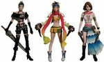 Final Fantasy X-2 Play Arts Action Figure Yuna Rikku Paine 1/10 Scale Statue Set of 3