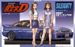 Initial D Nissan Sileighty with Mako & Sayuki 1/24 Model Kit