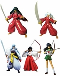 Inu Yasha Action Figure with Grin Human Forms Set of 5 Inuyasha