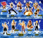 One Piece Gashapon Capsule Figure Series R Set of 10