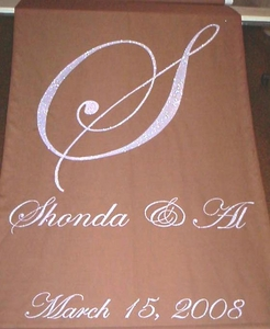 Glitter Monogram with Names and Date