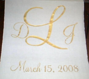 Three Letter Monogram with Date