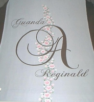 Vining Roses & Rose Buds with Names and Monogram