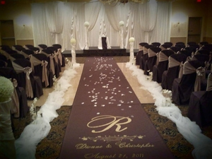 When Should I Unroll my Custom Aisle Runner?