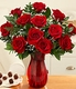 One Dozen Long Stemmed Red Roses w/ baby breath