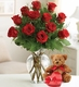 Rose Lovers Bouquet� - One Dozen Red