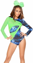 Alien Babe Costume, Rave Costumes, Alien Babe Outfit 10078