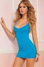 Back Seamless Chemise Lingerie Dress