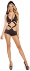 Black Monokini with Detachable Hood