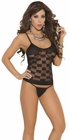 CheCker Mesh Black Cami Set