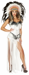 Cherokee Mistress Costume, Corset and Long Fringed Pants, Indian Corset and Fringed Pants