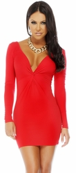 Red Mini Dress, Clubbing Short Dress, Red Dresses, Forplay Red Dress