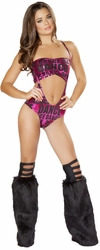 Pink Dance Tube Top and Suspender Romper, J.Valentine SF122, Sexy Romper Sets, Women Rave Rompers