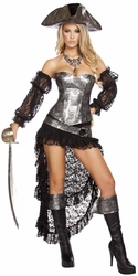 Deadly Pirate Captain Costume, Women's Pirate Costume, Pirate Captain 4572