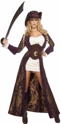 Decadent Pirate Diva Deluxe Costume, Deluxe Pirate Costume, Pirate Costume 4574