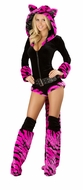 Hot Pink Tiger Romper, Fury Costume, Sexy Furry Halloween, Tiger Costume
