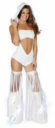 Hooded Romper And Tube Top, Open Front Romper, White Romper and Top