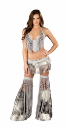 Deluxe Sexy Silver Indian Costume, Native American Halloween Costume, Silver Indian Costume