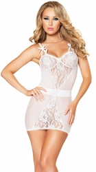 Chemise, Chemise Lingerie in Satin, Silk, and Lace, Sexy Chemise