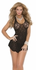 Lace Halter Black Chemise