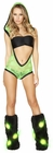 Lace Hooded Lime Green Romper and Tube Top