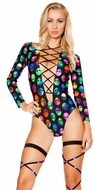 Long Sleeve Romper, Roma Sleeved Romper 3269, Rave Rompers