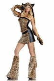Lusty Leopard Costume, Animal Halloween Costume for Women