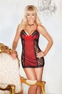 Mesh and Floral Lace Chemise Set