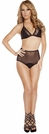 Mesh Bra Set, High Waisted Mesh Lingerie, Mesh triangle Top and High Waisted Panty