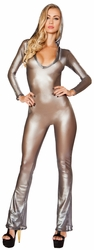 Metallic Hooded Catsuit, Fishnet Catsuit 3300, Rave Jumpsuits