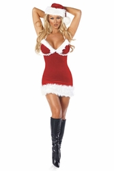 Miss Santa Costume, Sexy Miss Santa Costume for Women
