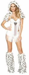 Native American Spirit, Indian Spirit Costume, Sexy Indian White Romper