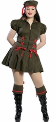 Soldier Costume for Women, Halloween Cheap Costume, Sale Costumes for Women, Army Costume for Women
