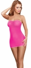 Neon Mesh Tube Chemise Lingerie