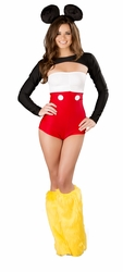 Nicky Mouse Costume, Mouse Romper Outfit, Sexy Mouse Outfit