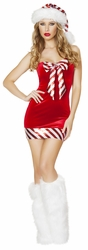 Santa's Candy Cane Costume, Candy Cane Costume, Santa Dress