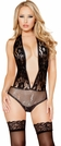 Sparkle and Lace Open Back Teddy, Sparkle Lingerie, Sequin Teddy