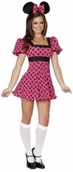Black and Pink Mouse Costume, Party Mouse Costume, J Valentine CA126