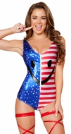 Patriotic Romper, 4th of July Clothing, American Flag Romper