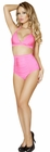 Pink Banded Halter Top and High Waisted Short