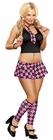 Pink Plaid School Girl Bedroom Costume