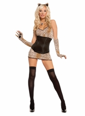 Kitty Costume, Purr-Fect Kitty Costume, Sexy Animal Costume