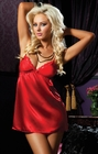 Red Satin Flawless Chemise